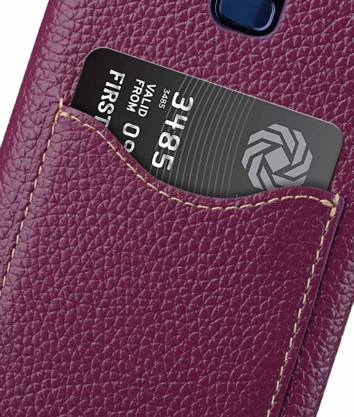 Melkco Premium Leather Card Slot Back Case for Samsung Galaxy S9 Plus - ( Purple LC )Ver.2