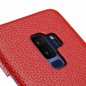 Melkco Premium Leather Card Slot Back Case for Samsung Galaxy S9 Plus – (Red LC)Ver.2