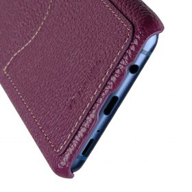 Melkco Premium Leather Card Slot Back Case for Samsung Galaxy S9 – (Purple LC)Ver.2