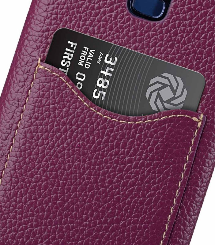 Melkco Premium Leather Card Slot Back Case for Samsung Galaxy S9 - (Purple LC)Ver.2