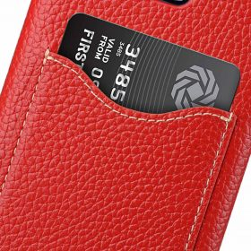 Melkco Premium Leather Card Slot Back Case for Samsung Galaxy S9 – (Red LC)Ver.2