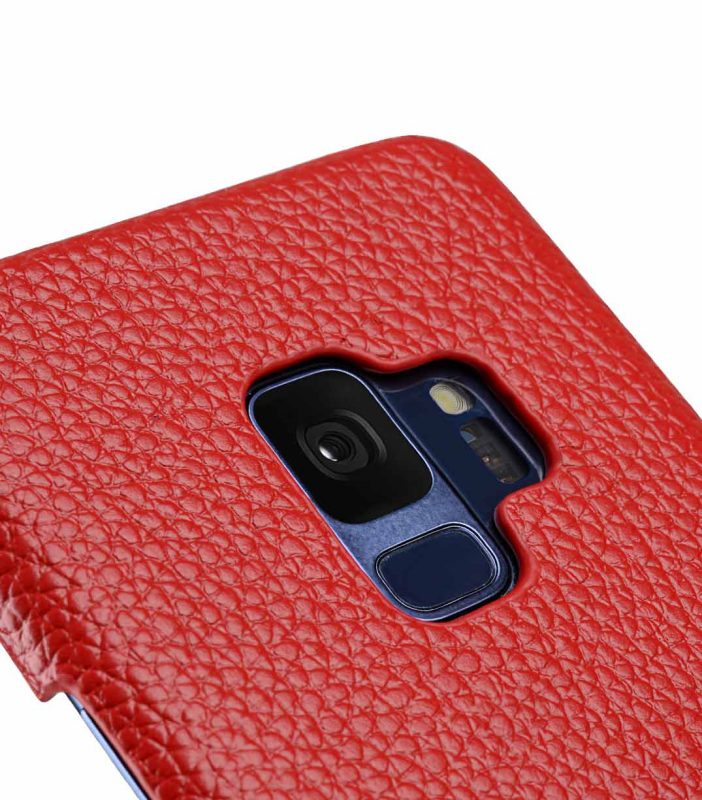 Melkco Premium Leather Card Slot Back Case for Samsung Galaxy S9 - (Red LC)Ver.2