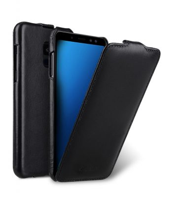 Melkco Premium Leather Case for Samsung Galaxy A8 (2018) - Jacka Type (Black)