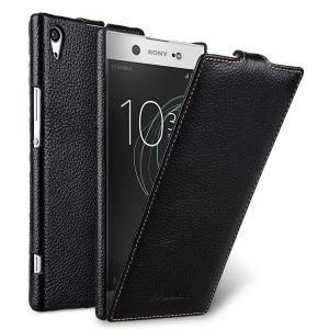 Melkco Premium Leather Case for Sony Xperia XA1 Ultra - Jacka Type (Black LC)