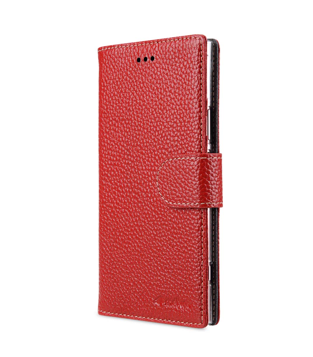 Lomogo Sony Xperia XZ1 Compact 4.6-inch Case Leather Wallet Case with Kickstand Card Holder Shockproof Flip Case Cover for Sony Xperia XZ1 Compact LOBFE150608 Red