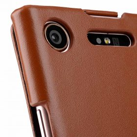 Melkco Premium Leather  Case for Sony Xperia XZ1 – Jacka Type (Brown CH)