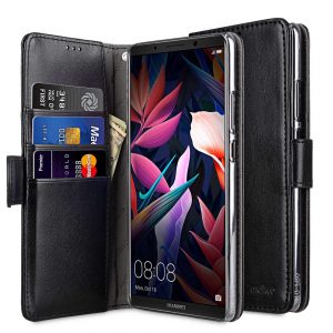 Melkco PU Leather Wallet Book Clear Type Case for Huawei Mate 10 Pro - (Black)