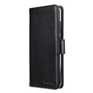 Melkco PU Leather Wallet Book Clear Type Case for Huawei P20 Lite - (Black)
