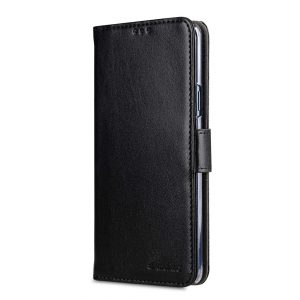 Melkco PU Leather Wallet Book Clear Type Case for Samsung Galaxy S9 Plus - (Black)