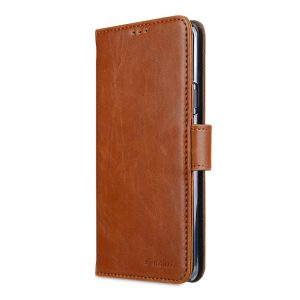 Melkco PU Leather Wallet Book Clear Type Case for Samsung Galaxy S9 Plus - (Brown)
