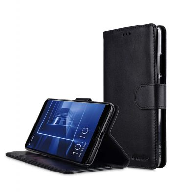 Melkco Premium Leather Case for Huawei Mate 10 - Wallet Book Clear Type Stand (Black)