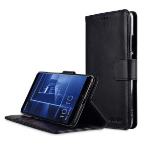 big sale 799fc 45e8b Premium Leather Case for Huawei Mate 10 - Wallet Book Clear Type Stand