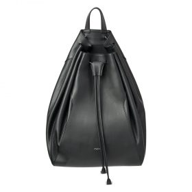 Melkco Fashion Chic Mode Series Bucket Backpark In Backpack L Size in Genuine leather(Black)