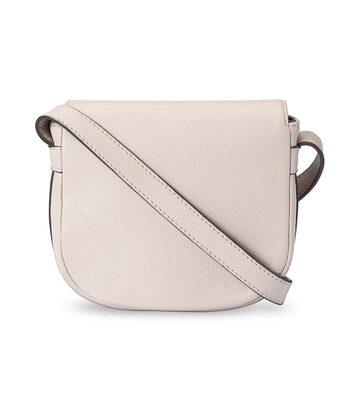 Melkco Blooming Series Mini Saddle Bag in Genuine Leather - Beige