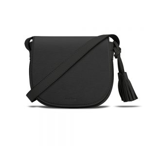 Melkco Blooming Series Mini Saddle Bag in Genuine Leather( Black )