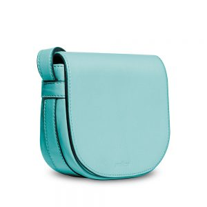 Melkco Blooming Series Mini Saddle Bag in Genuine Leather (Lake Blue)