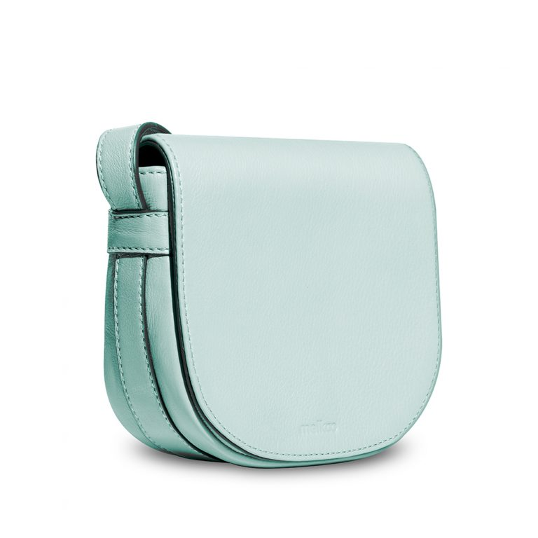 Melkco Blooming Series Mini Saddle Bag in Genuine Leather (Mint Green)