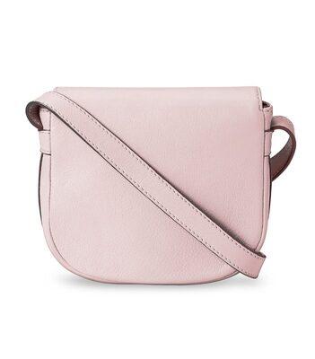 Melkco Blooming Series Mini Saddle Bag in Genuine Leather (Pink)
