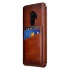 Melkco Elite Series Premium Leather Face Cover Back Slot Case for Samsung Galaxy S9 Plus – (Tan)