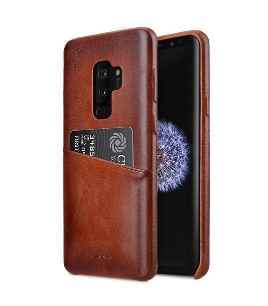 brand new 68ebc 931b3 Elite Series Premium Leather Snap Back Pocket Case for Samsung Galaxy S9  Plus - (Tan)