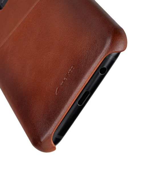 Melkco Elite Series Premium Leather Snap Back Pocket Case for Samsung Galaxy S9 Plus - (Tan)