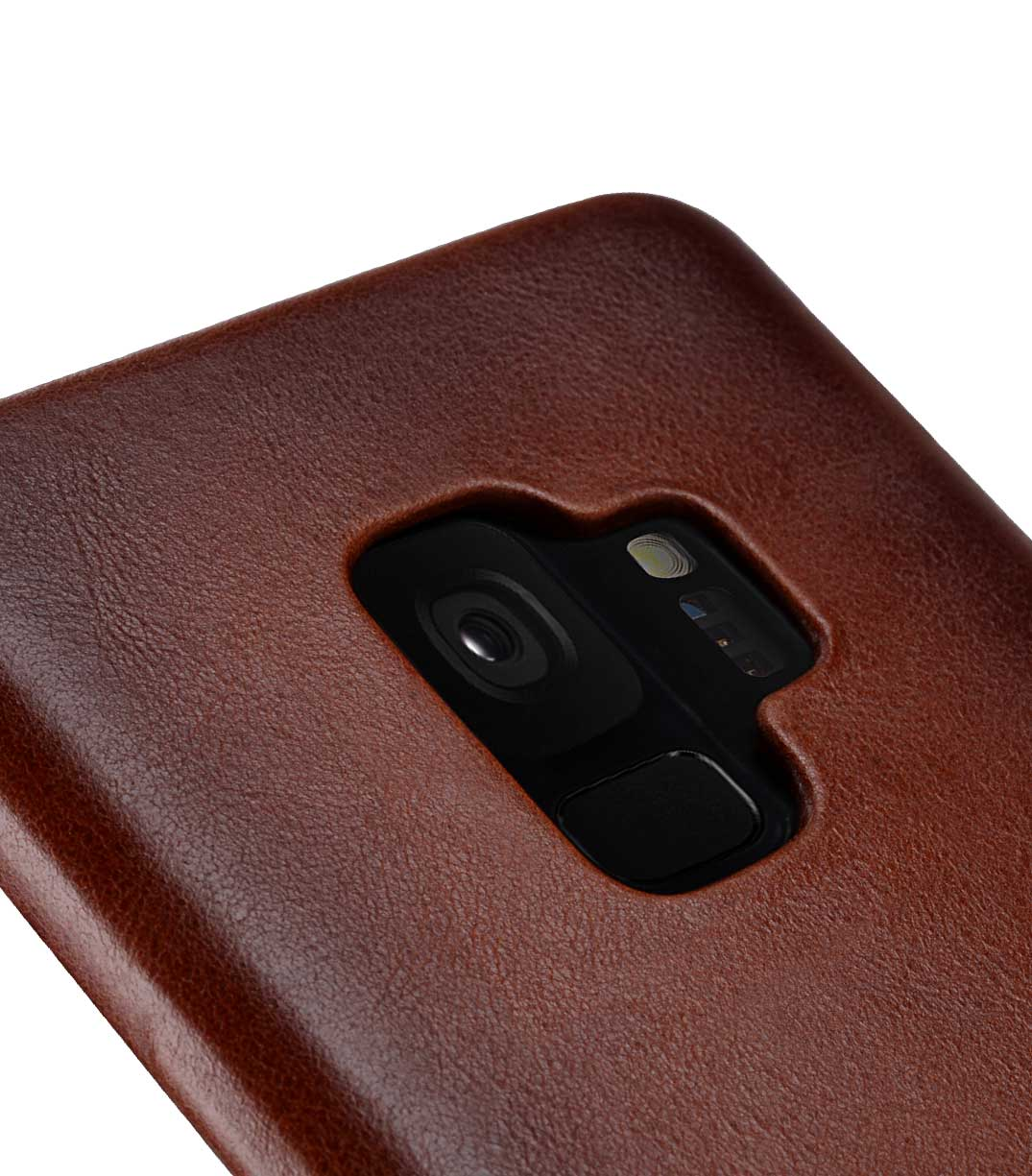 Melkco Elite Series Premium Leather Snap Back Pocket Case for Samsung Galaxy S9 - (Tan)