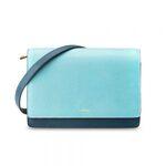 Melkco Fashion Accordion Series Mini Turnlock Flapover Crossbody Bag(Dark Blue)