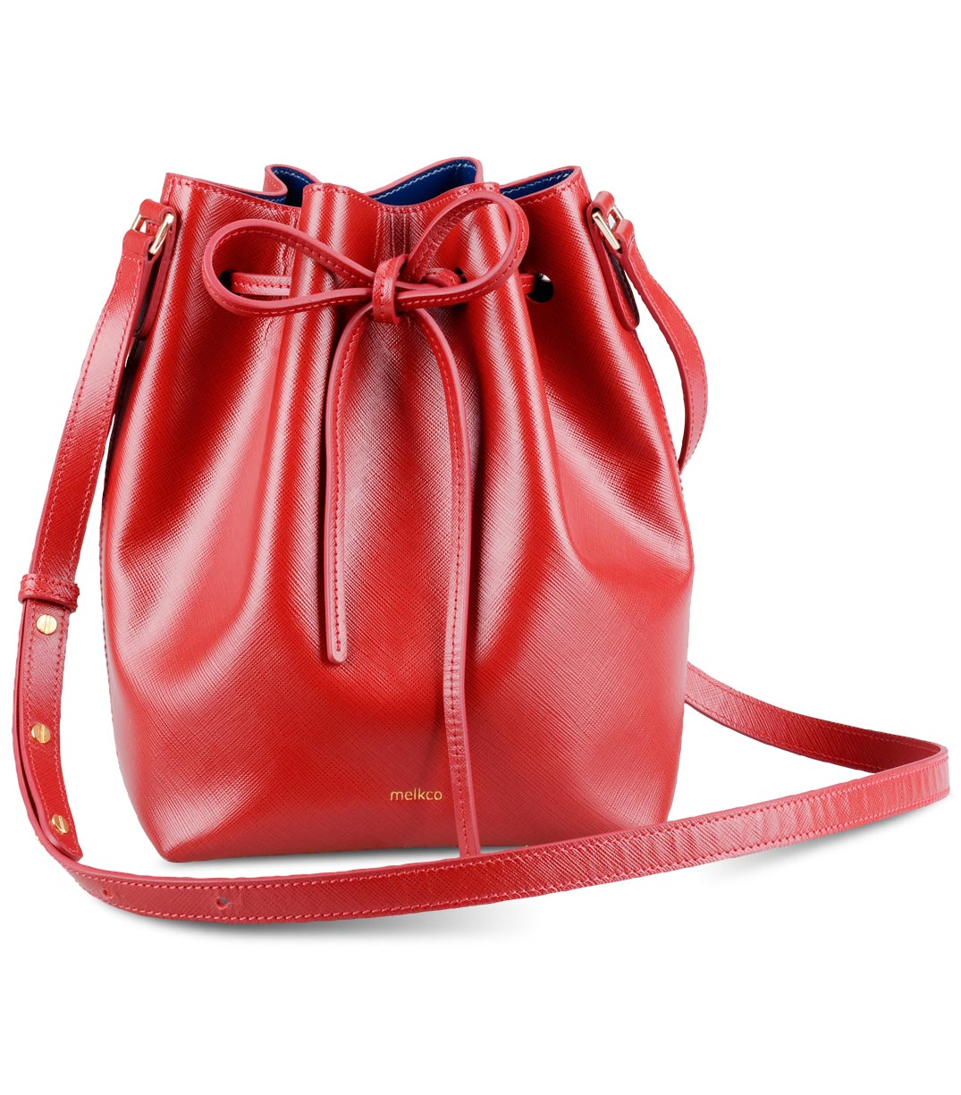 Melkco Fashion Memi Purden Bucket Bag in Cross pattern ...