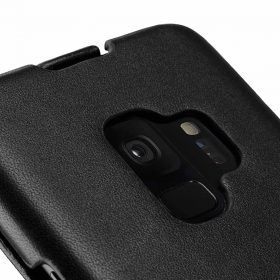 Melkco Premium Leather  Case for Samsung Galaxy S9 – Jacka Type (Black)