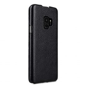 Melkco Premium Leather  Case for Samsung Galaxy S9 – Jacka Type (Black LC)