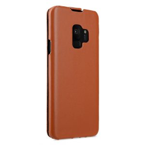 Melkco Premium Leather Case for Samsung Galaxy S9 - Jacka Type (Brown CH)
