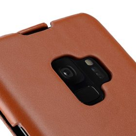 Melkco Premium Leather Case for Samsung Galaxy S9 – Jacka Type (Brown CH)