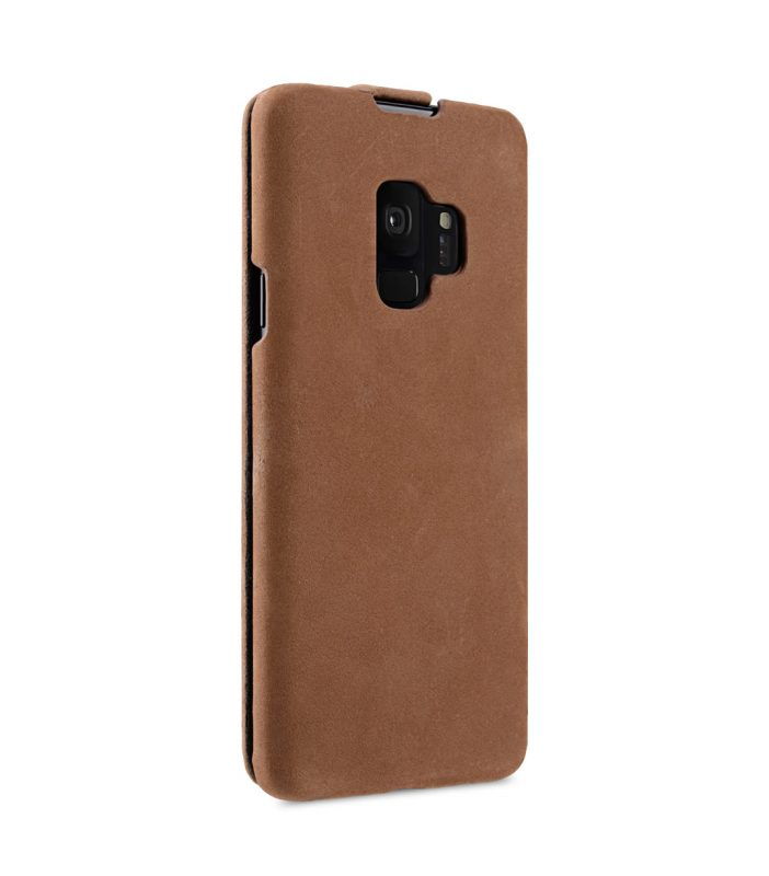 Melkco Premium Leather Case for Samsung Galaxy S9 - Jacka Type (Classic Vintage Brown)