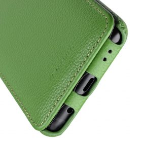 Melkco Premium Leather Case for Samsung Galaxy S9 – Jacka Type (Green LC)
