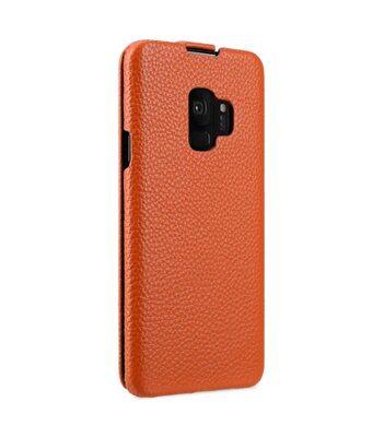 Melkco Premium Leather Case for Samsung Galaxy S9 - Jacka Type (Orange LC)