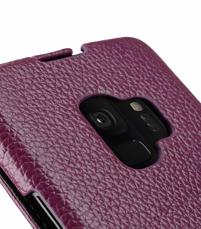 Melkco Premium Leather Case for Samsung Galaxy S9 - Jacka Type (Purple LC)