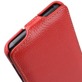 Melkco Premium Leather  Case for Samsung Galaxy S9 – Jacka Type (Red LC)