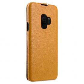 Melkco Premium Leather  Case for Samsung Galaxy S9 – Jacka Type (Yellow LC)