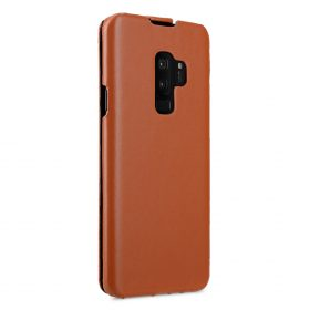 Melkco Premium Leather  Case for Samsung Galaxy S9 Plus – Jacka Type (Brown CH)