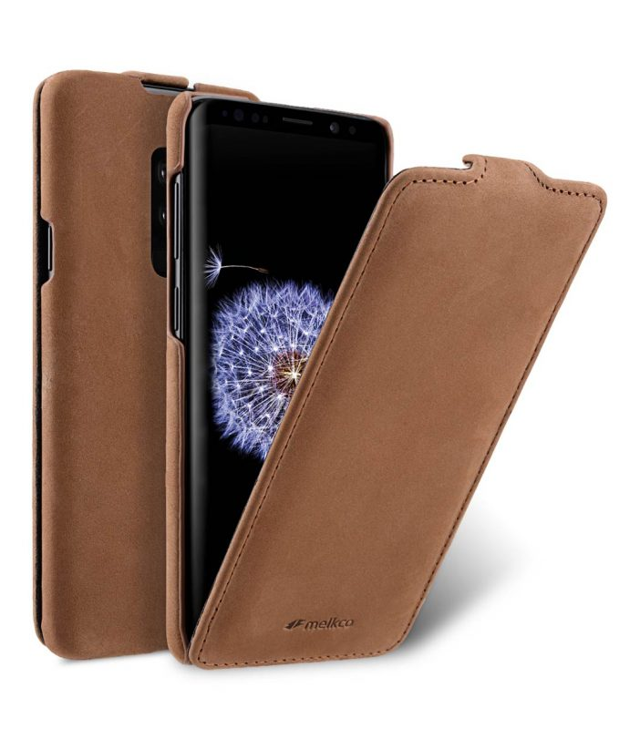 Melkco Premium Leather Case for Samsung Galaxy S9 Plus - Jacka Type (Classic Vintage Brown)