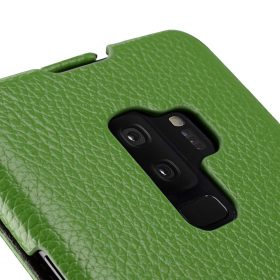 Melkco Premium Leather  Case for Samsung Galaxy S9 Plus – Jacka Type (Green LC)