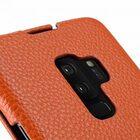 Melkco Premium Leather  Case for Samsung Galaxy S9 Plus – Jacka Type (Orange LC)