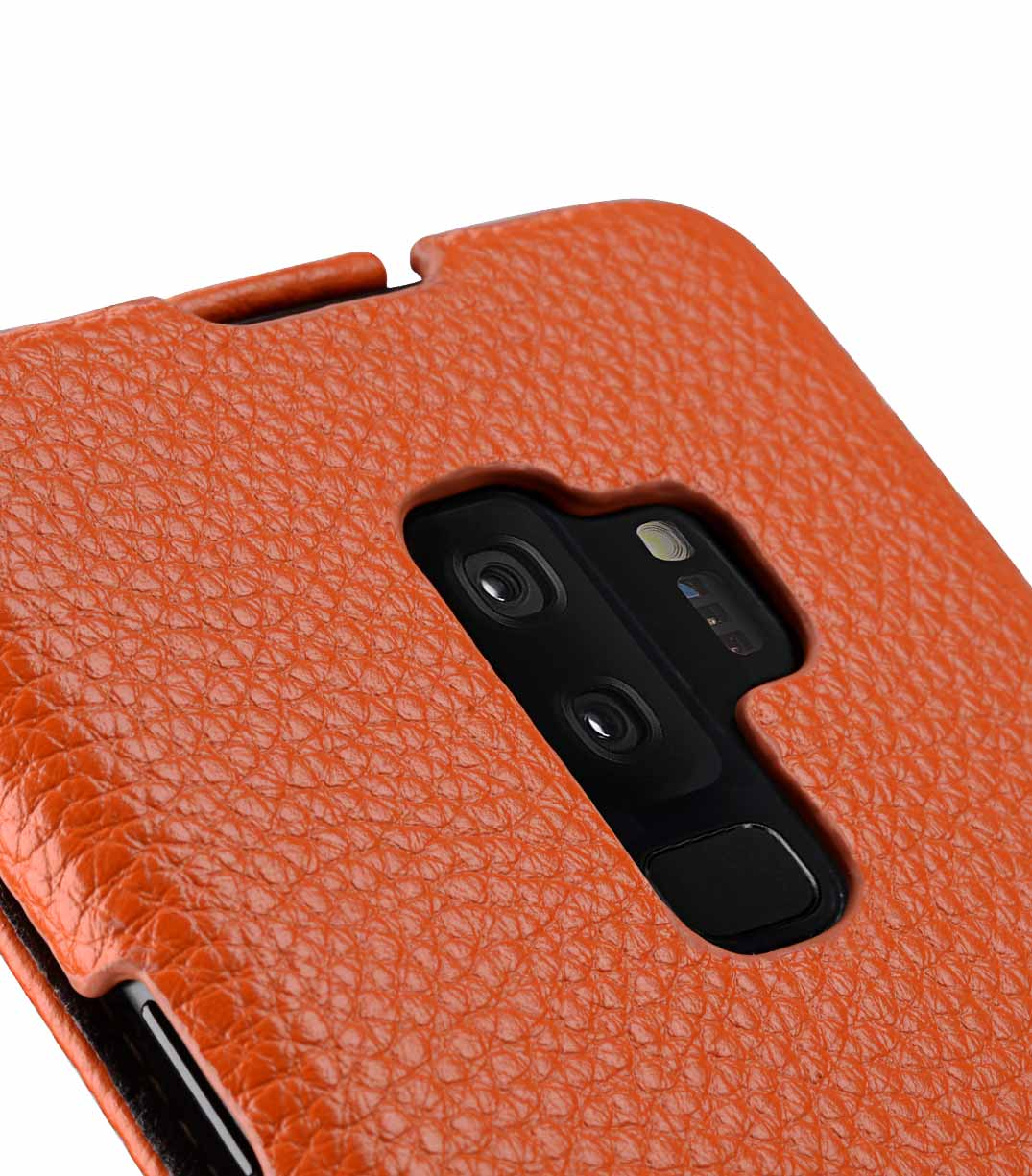 Melkco Premium Leather Case for Samsung Galaxy S9 Plus - Jacka Type (Orange LC)