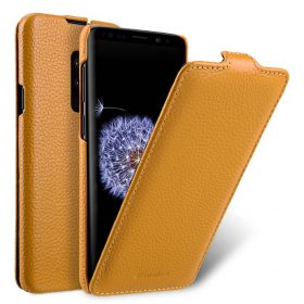 Melkco Premium Leather  Case for Samsung Galaxy S9 Plus -Jacka Type (Yellow LC)