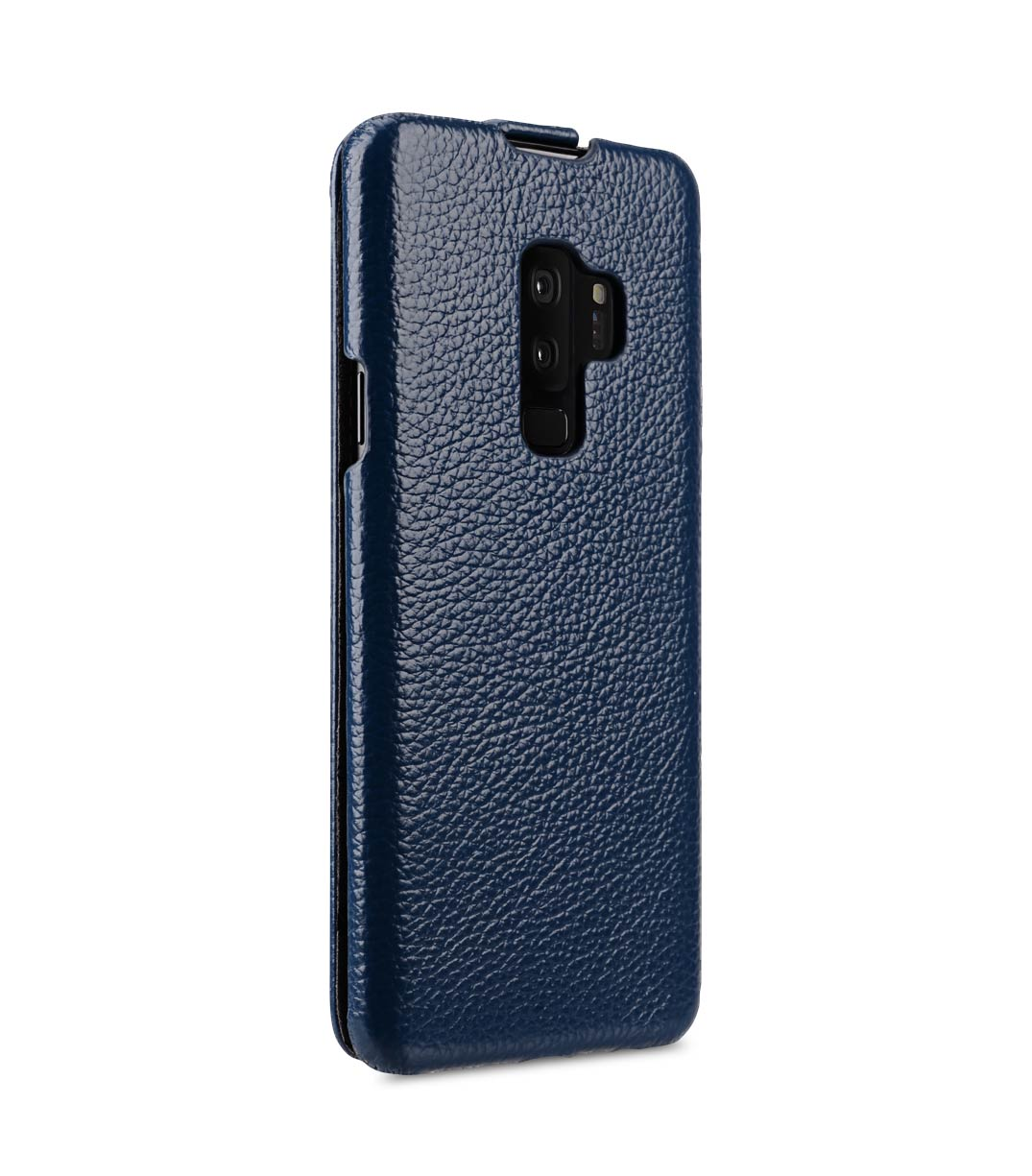 Melkco Premium Leather Case for Samsung Galaxy S9 Plus - Jacka Type (Dark Blue LC)