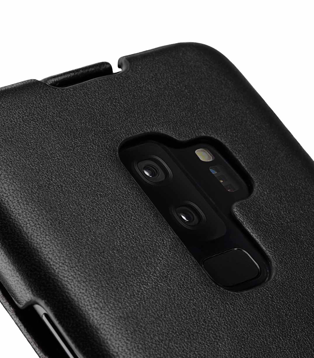 MelkcoPremium Leather Case for Samsung Galaxy S9 Plus - Jacka Type (Black)