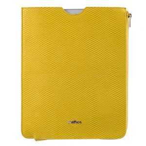Melkco Fashion Python Skin Series leather pouch for iPad Air 2 - Yellow