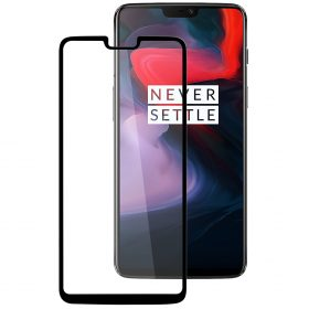 Melkco 3D Curvy 9H Tempered Glass Screen Protector for OnePlus 6 - ( Black )