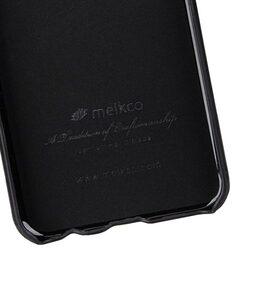 Melkco Back Snap Series Premium Leather Card Slot Back Cover V2 Case for Huawei P20 Lite - ( Black )
