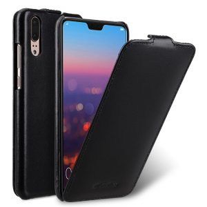 Melkco Jacka Series Premium Leather Jacka Type Case for Huawei P20 - ( Black )